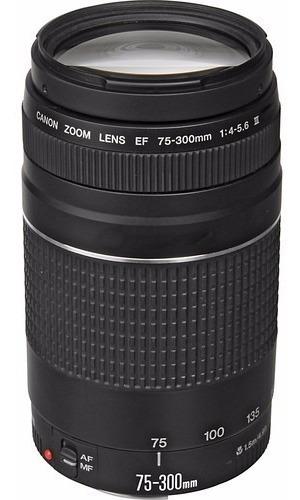 Lente Canon 75-300mm F/4-5.6 Iii Ef Autof Garantia 1 Ano Nfe