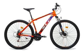 Bicicleta Mountain Bike Rodado 29 Slp 10 Shimano Cambios Frenos Disco Llantas Doble Pared Suspension Varon Mujer Happy