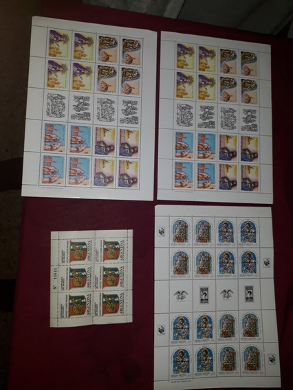 Lote Planchas Estampillas Argentinas Antiguas 89