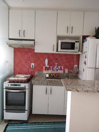 Apartamento Com 2 Dormitórios À Venda, 45 M² Por R$ 190.000 - Loteamento Parque São Martinho - Campinas/sp - Ap4971