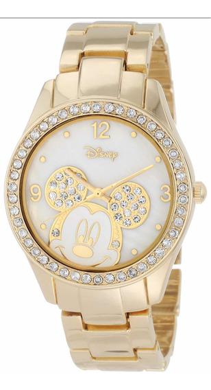 Reloj Dorado Mickey Mouse De Disney