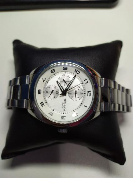 Relógio De Luxo Technos Masculino Prata Original 6p27-bj
