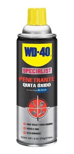 Imagen 1 de 6 de Lubricante De Penetrante Quita Oxido Specialist Wd-40 274ml