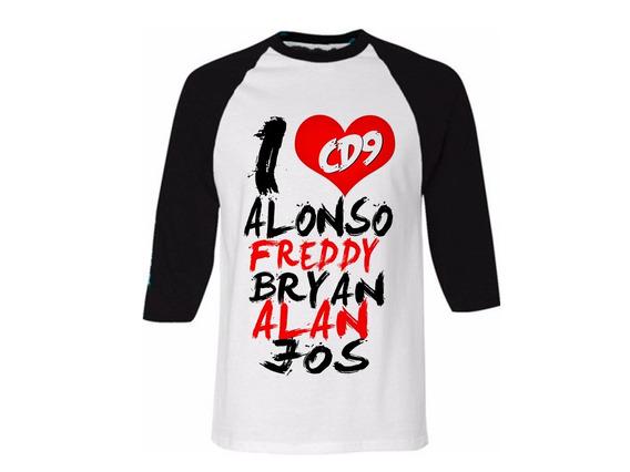 Playera Ranglan - I Love Cd9 (jos,alonso,alan,brayan Freddy)