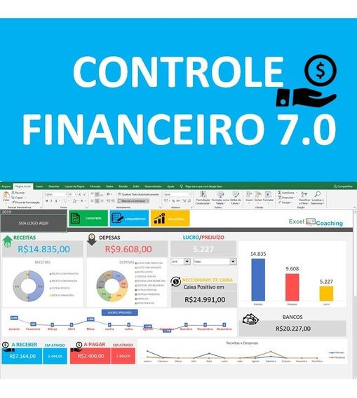 Controle Financeiro Completo Fluxo De Caixa Excel