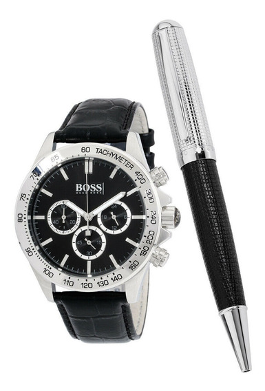 Relógio Masculino Hugo Boss 1513178 Pulseira De Couro