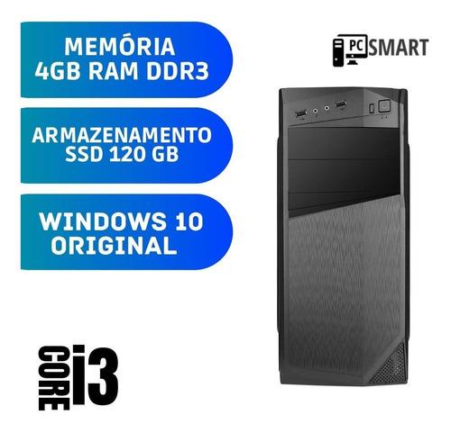Imagem 1 de 2 de Pc Desktop Intel Core I3 4gb Ddr3 Ssd 120gb Windows 10 Pró