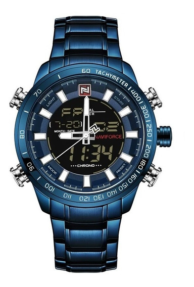 Relógio Masculino Naviforce 9093 Dual Time Prova D