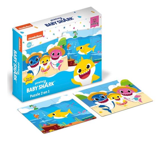Puzzle Rompecabezas 2 En 1 - Baby Shark Original
