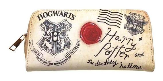 Genial Y Elegante Cartera De Harry Potter De Hogwarts Carta
