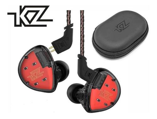 Imagen 1 de 4 de Kz Es4/black Auricular In-ear Sistema Híbrido Carcasa Ergono