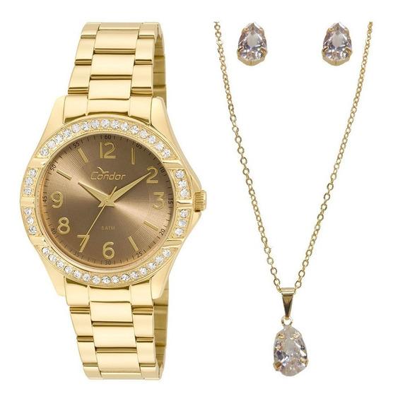 Relógio Condor Feminino Kit Co2035kwn/k4m Com Nf