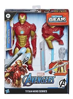 Figura Avengers Titan Hero Blast Gear Iron Man Hasbro E7380