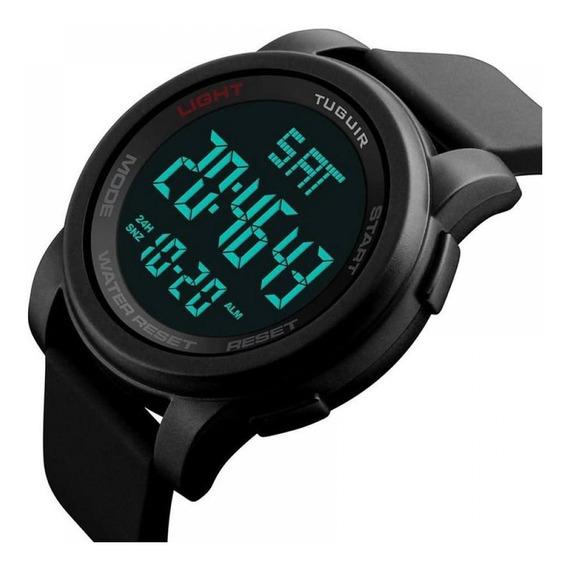Relógio Masculino Preto Esportivo Digital Prova Agua Origina