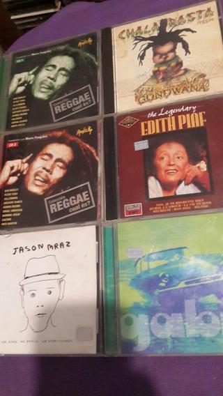 Lote De 6cds Jason Mraz Gabin Edith Piaf Y Cds De Reggae