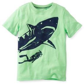 Camiseta Carters Importada Menino Bebê 12 Meses Tubarão