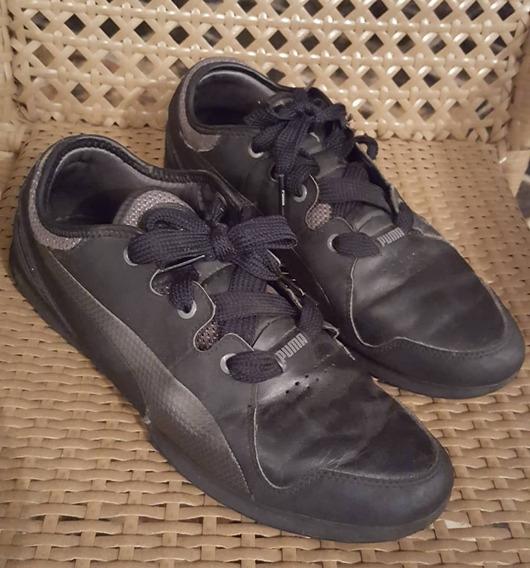 Zapatos De Caballero Negros/gris Marca Puma Talla 43