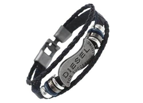 Pulseira Masculina Oferta Kit 3 Bracelete Couro Aço Luxo + Frete Grátis