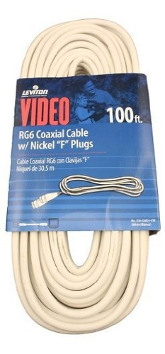 Cable Coaxial Leviton C6851-cw Rg6, Niquelado, 100 Pies, Bla