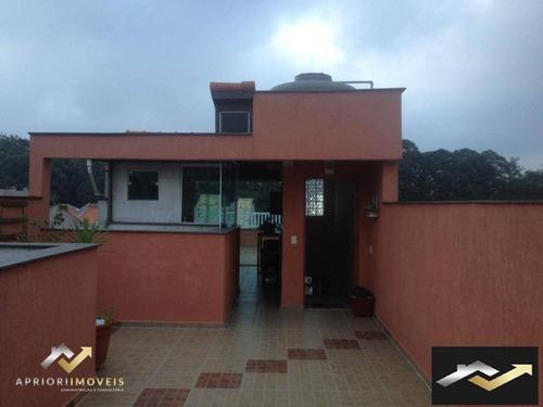 Cobertura Com 3 Dormitórios À Venda, 83 M² Por R$ 510.638 - Jardim Milena - Santo André/sp - Co0916