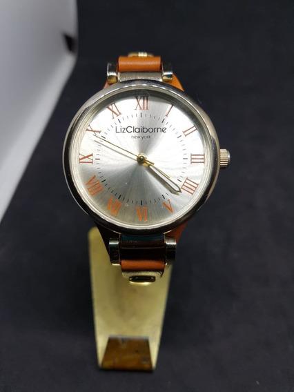 Reloj Liz Claiborne De Piel Para Dama