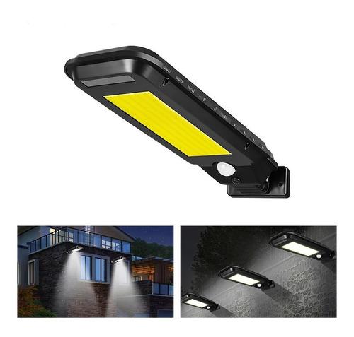 Luminária Refletor Solar Parede 100leds Potente Sensor Frio