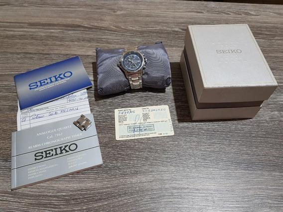 Relogio Seiko The Great Blue, 7t62, Alarme, Cronografo