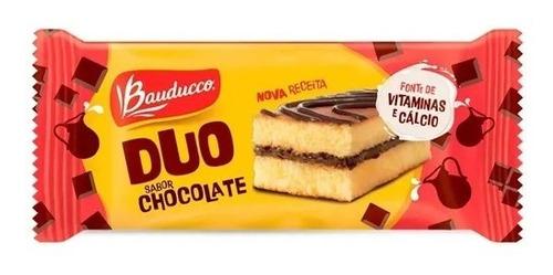 Imagem 1 de 1 de Bolinho Duo Sabor Chocolate Bauducco 27g