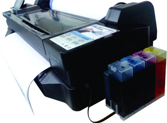 Impressora Ploter Hp T120 61cm A1 + Bulk + Kit Tinta + Papel