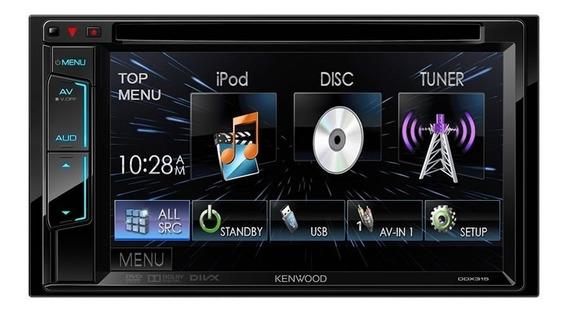 Dvd Player 2 Din 6.1usb Kenwood Ddx315 Original Com Nota