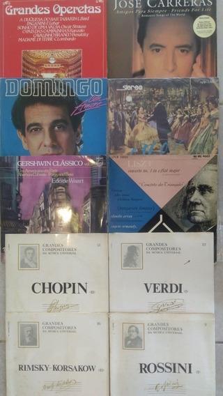 10 Lps Chopin Liszt Verdi Strauss Musi Clássica Frete Grátis
