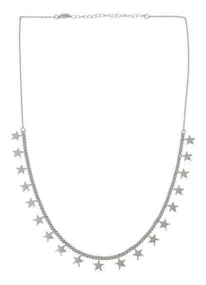 Luckyly Collares Mujer Estrellas Leah Cadena Baño Oro, Plata
