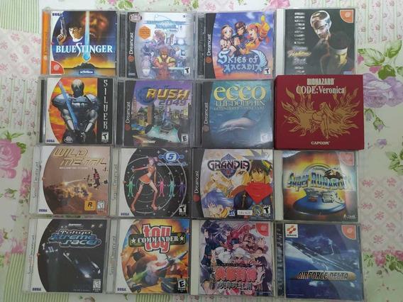 Lote De 16 Jogos Sega Dreamcast Original Usados