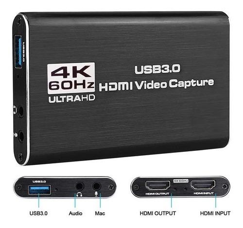 Imagen 1 de 7 de Capturadora Video Hdmi Usb3.0 4k 60fps Live Streaming