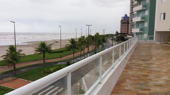 Apartamento Em Praia Grande Frente Para O Mar Com Varanda Go