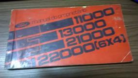 Manual Do Proprietario Ford 11000/12000/13000/22000 6x4