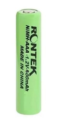 Bateria Aaa 1,2v 600 Mah-ni-mh Recarregavel Kit C/ 02rontek