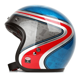 Capacete Bell Airtrix Heritage Blue Red Custom 500