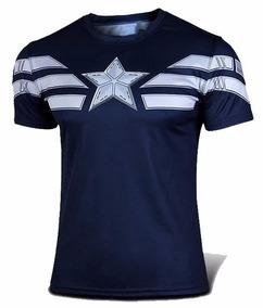 Playera Capitan America Gym Avengers Marvel Poliester
