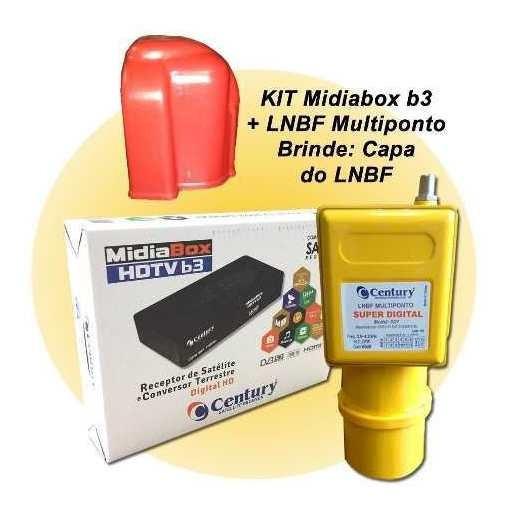 Receptor Digital Midia Box B3 + Lnbf Multi Superdigital Capa