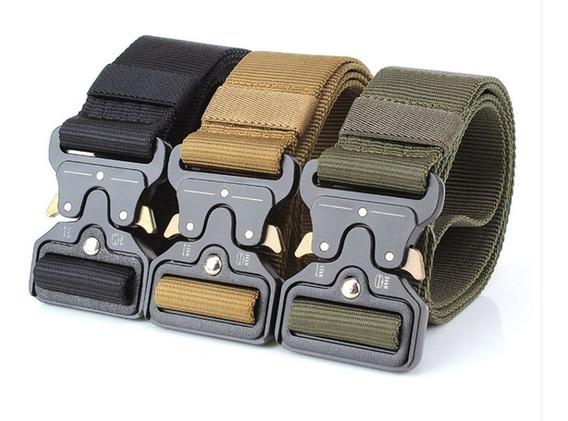 Cinturon Tactico Militar F-405 Bronce Hebilla Accion Rapida
