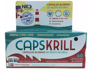 Capskrill Cápsulas De Aceite De Krill X40 C/ Omega3