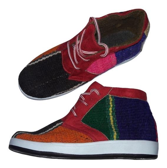 Botas Botitas De Puyo Tipo Zapatillas - Artesanales Y Nuevas