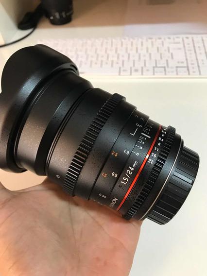 Lente Rokinon 24mm T1.5 Cine Ds Para Cameras Canon Ef