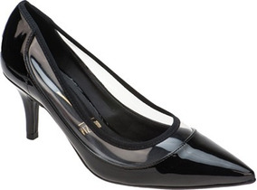 bb3985c4bd Sapato Scarpin Salto Transparente Feminino Vizzano - Sapatos no ...