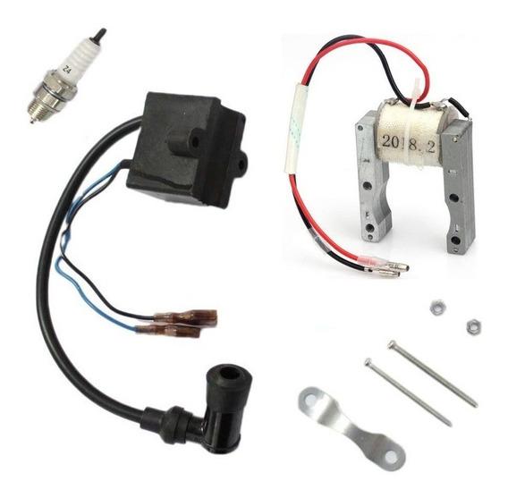 Cdi / Bobina / Magneto / Vela Kit Motor Moskito 80cc - 66cc