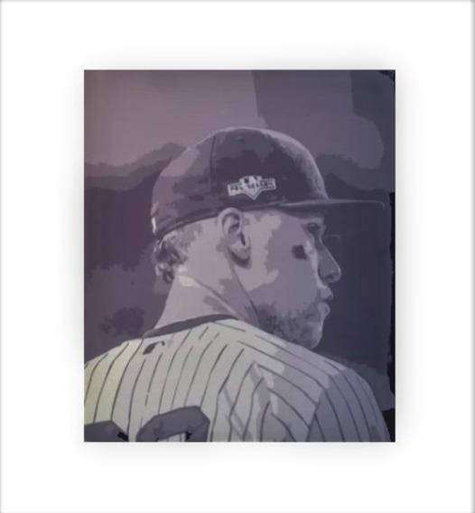 Canvas Aaron Judge Yankees New York Cuadro 38.5 X 46 Cms