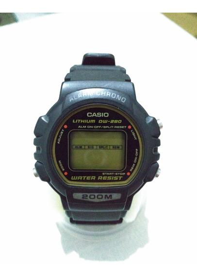 Relógio Casio Dw-280 Vintage 80 - Intacto Colecionador