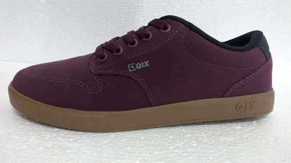 Tênis Qix Base Bordo/natural 105730 - Nota Fiscal