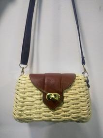Bolsa Feminina Palha Mini Bag Linda Pequena Blogueiras